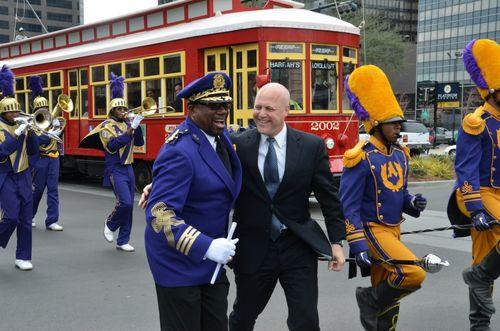 Loyola Streetcar parade