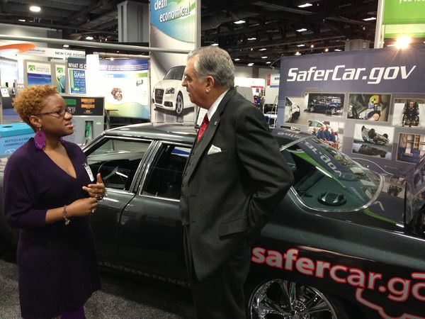 At the NHTSA booth