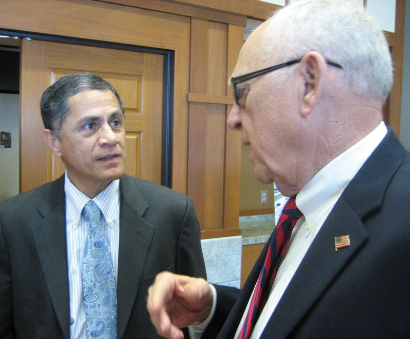 FHWA Administrator Victor Mendez with Grand Prairie Mayor Charles England