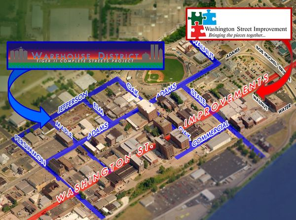 Warehouse District and Washington Street improvements