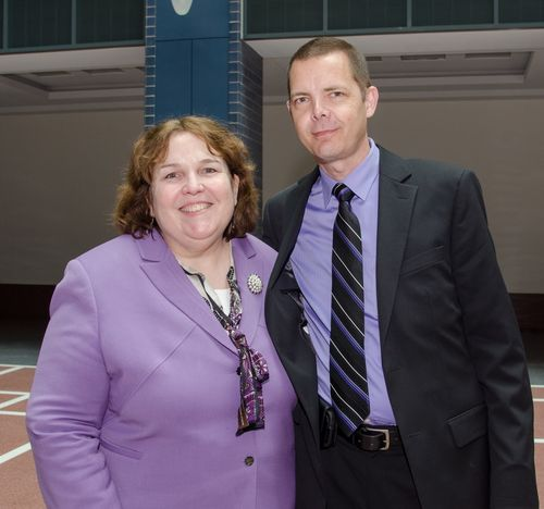 Photo of Associate Administrator for Field operations Annie Collins and Special Investigator Scott Weinzapfel