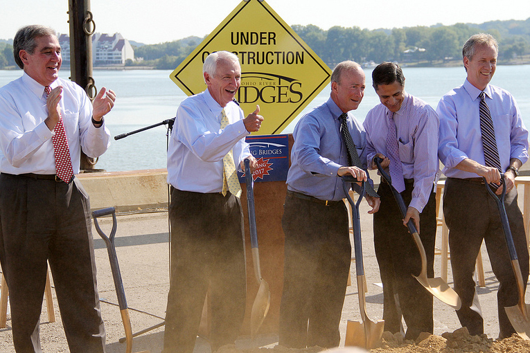Breaking ground on the Ohio River Bridges project
