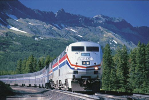 Amtrak and mountains