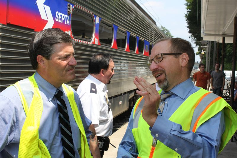 FTA Administrator Rogoff with US Rep Gerlach at SEPTA