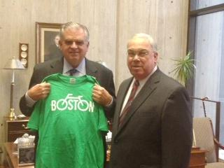 Boston Bikes t-shirt from Mayor Menino