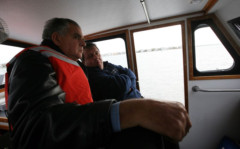 With Governor Christie off shore from Mantoloking