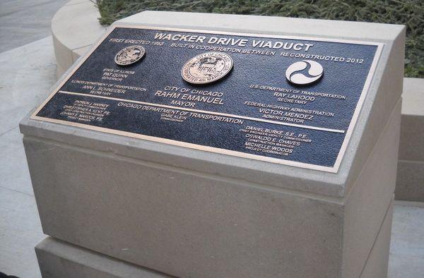 Wacker viaduct plaque