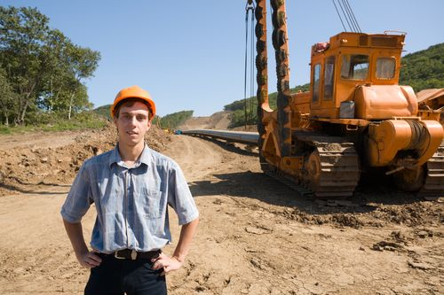 Guy in Front of Pipeline