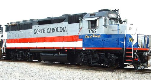 North Carolina train City of Raleigh