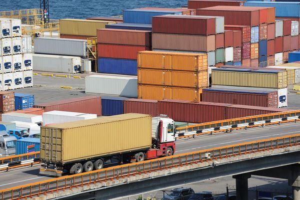 Truck at Cargo Port