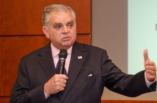 Photo of Secretary LaHood addressing the Special Investigators.