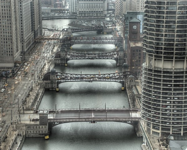 Bridges over Chicago River