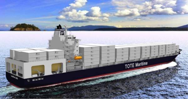 Planned TOTE LNG container vessel