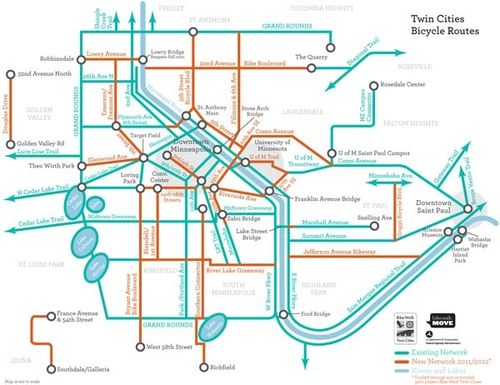 Twin Cities Bike Map