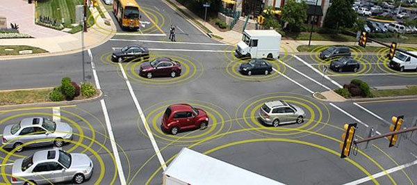 Vehicles connected to each other and to infrastructure