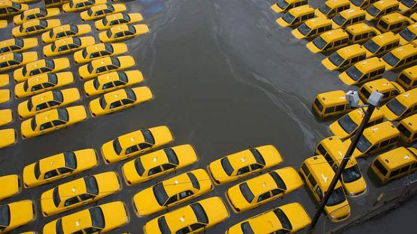 Cabs submerged photo courtesy All My Travels on Flickr