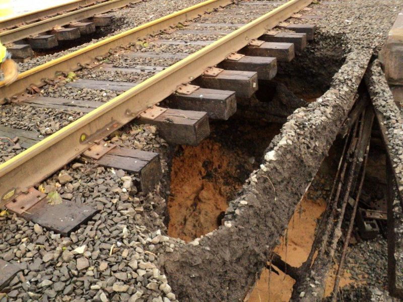 NJ Transit rail damage