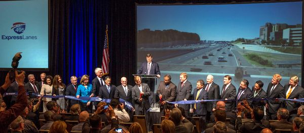 Ribbon-cutting for 495 Express Lanes