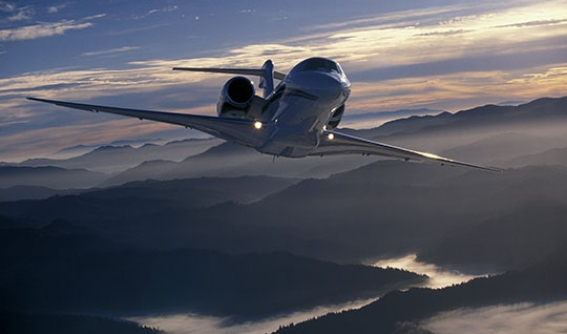 Aircraft over mountains