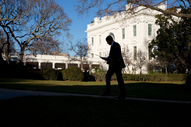 President Obama returns to the White House after the Tribal Nations Conference