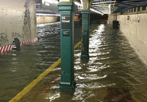 Subway flooding from Sandy