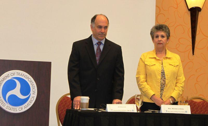 Deputy Administrator Bronrott with Wanda Lindsay