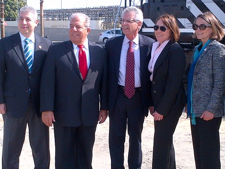 Photo of officials at the Green Port Gateway groundbreaking