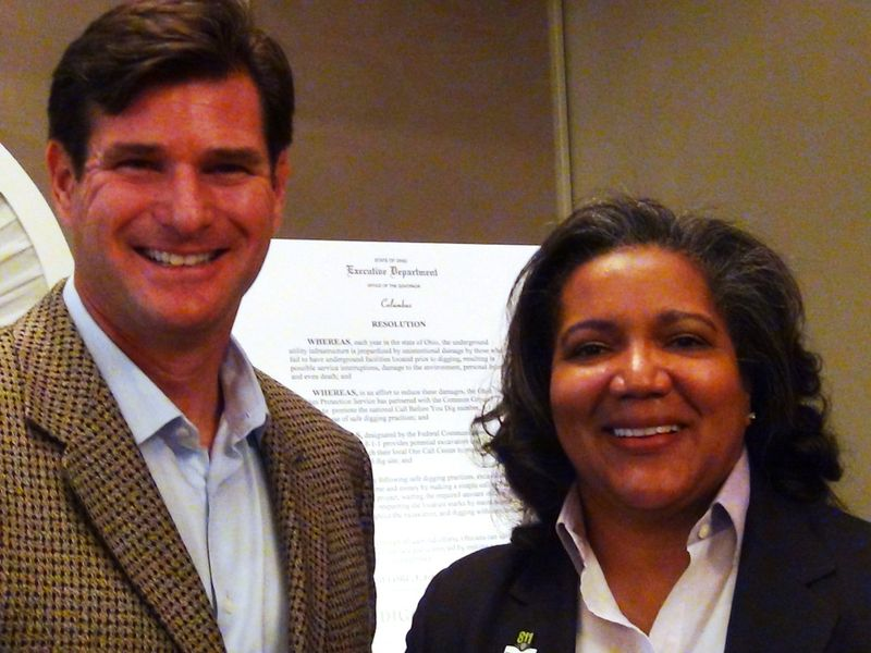 Cliff Meidl with PHMSA Administrator Cynthia Quarterman