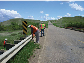 Crew works on tribal road