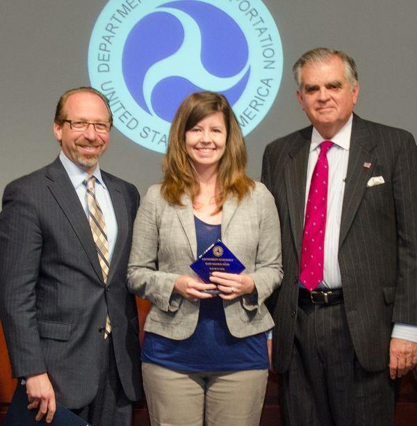 FTA Administrator Peter Rogoff and I stand with Good Neighbor awardee Elizabeth Patel