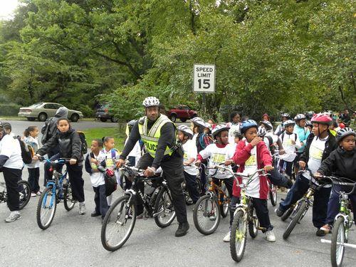 Biking to school in Cheverly