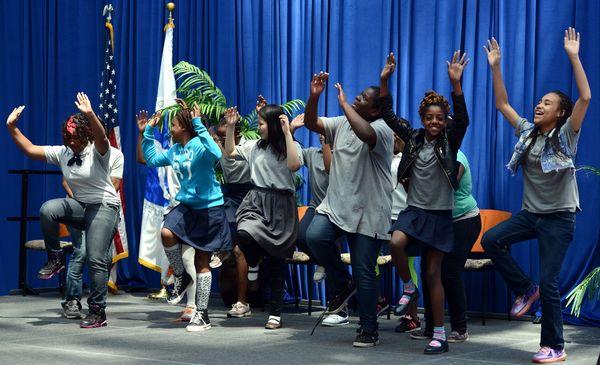 Amidon students dancing