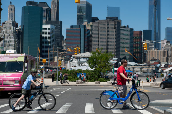 Bike share in action courtesy NY Times