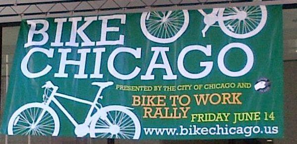 BikeChicago rally banner