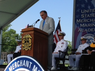 Speaking at USMMA commencement