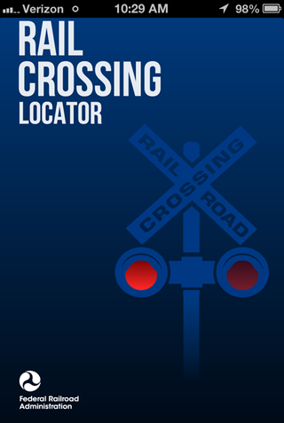 Rail Crossing Locator app