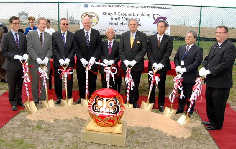Nippon Sharyo groundbreaking ceremony