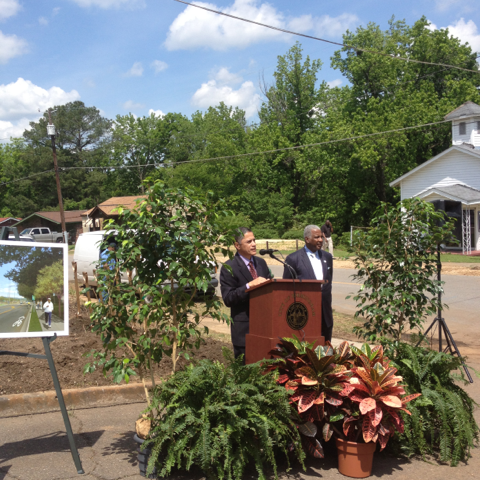 FHWA Administrator Mendez with Birmingham Mayor William Bell