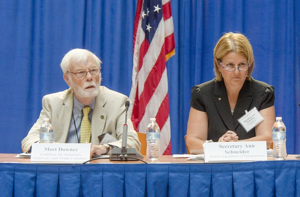 Vice Chair Mort Downey and Chair Ann Schneider