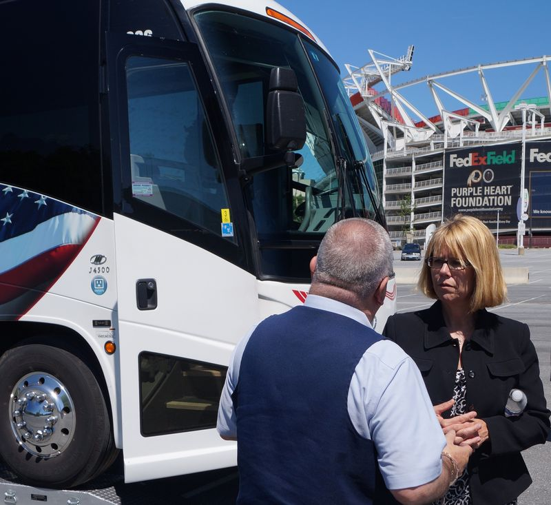FMCSA Administrator Anne Ferro with motorcoach operator