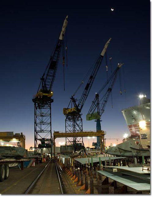 Photo of the NASSCO shipyard